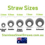 straw sizes for stainless steel straws