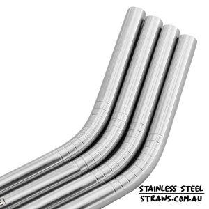 Bent Stainless Steel straws 6mm