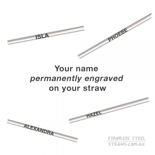 personalised stainless steel drinking straws