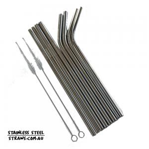 BUY Set Stainless steel straws Australia