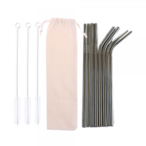 Stainless Steel Straw 12 Set