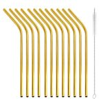 gold 12 reusable straws
