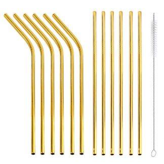 Gold Straw Set of 12