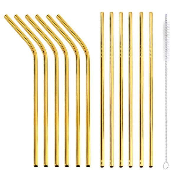 Gold Straw Set of 12