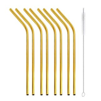 gold straws 8 bent