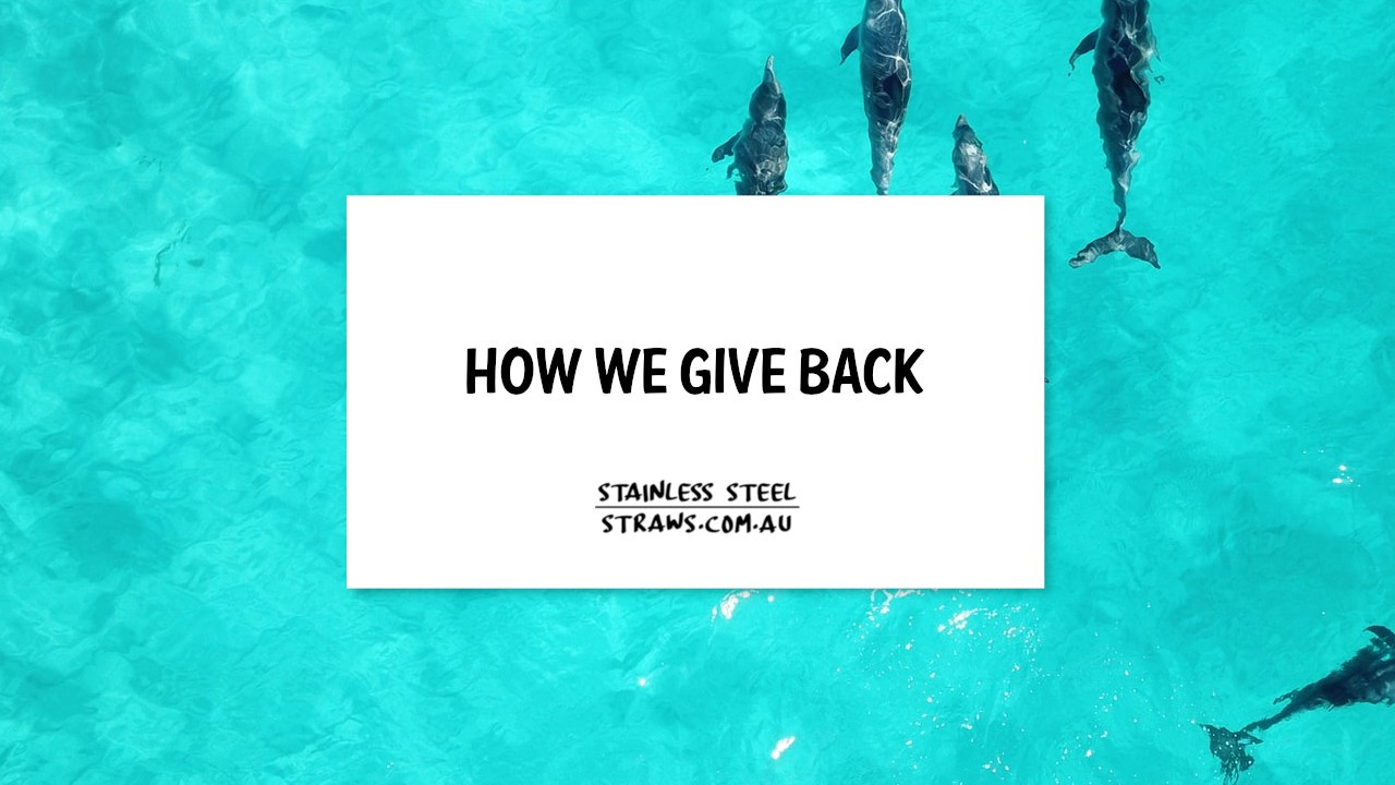 How we give back