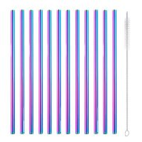 Rainbow Metal Straws 12
