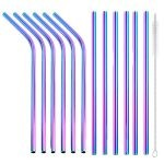 rainbow straws 12 set