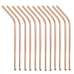 Rose Gold Straws 12 set