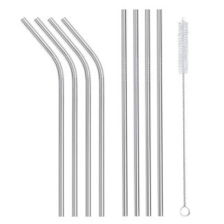 stainless steel straws set 8