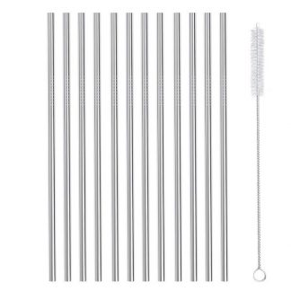 12 stainless steel straws