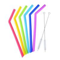 Silicone Straws Bent