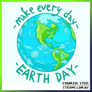 earth day stainless straws