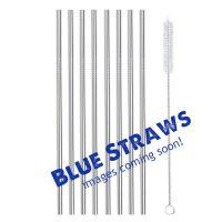 Blue Metal Straws 8 straight